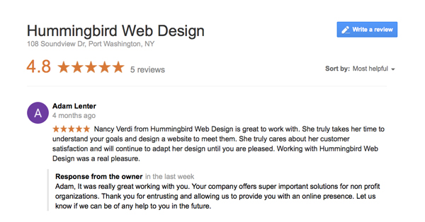 4 ways to positively combat a negative review - hummingbirdwebdesign