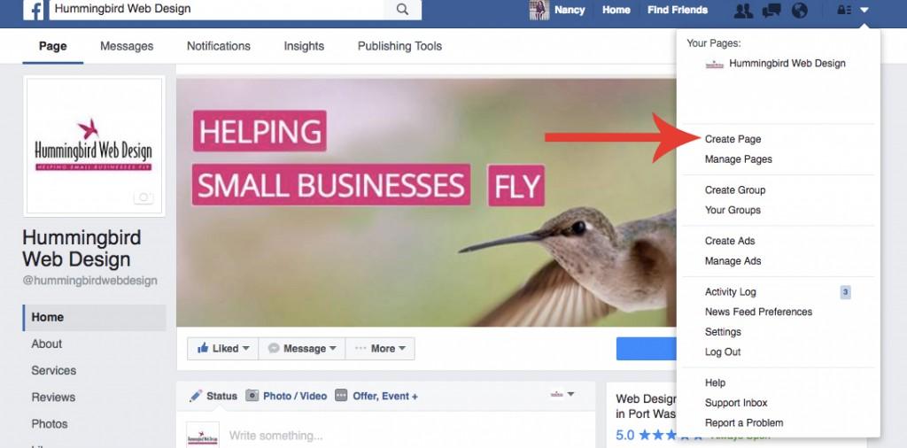 6 Tips to Build a Business Facebook Page - Hummingbirdwebdesign
