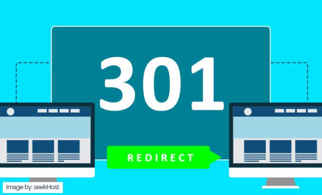 a graphic showing webpage 301 redirect New York SEO