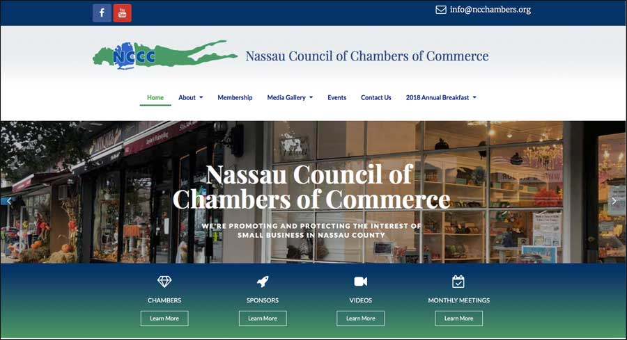 NCChamber website portfolio sample